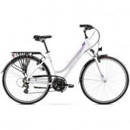 "Bicicleta ROMET Gazela M/17"" alb/violet"