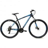 """Bicicleta FIVESTARS 2019 Rebel MDB 29"""" negru/albastru 48 cm"""