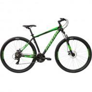 "Bicicleta FIVESTARS Rocky MDB 2021 29"" negru/verde 40 cm"
