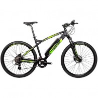 "Bicicleta electrica FIVESTARS 29"" negru/verde 45 cm"