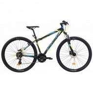 """Bicicleta SPRINT Maverick HDB 29"""" negru/galben/albastru 43 cm"""