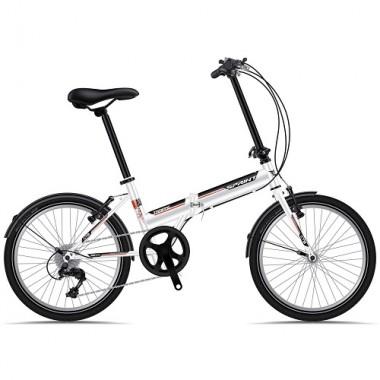 "Bicicleta pliabila SPRINT Traffic 20"" alb/negru/rosu"