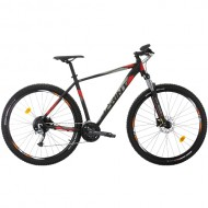 "Bicicleta SPRINT Maverick Pro 27.5"" negru/gri/rosu 44 cm"