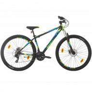 "Bicicleta SPRINT Active DD 29"" negru/albastru/verde 44 cm"