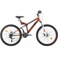 "Bicicleta SPRINT Element DB 26"" rosu/portocaliu/negru 46 cm"