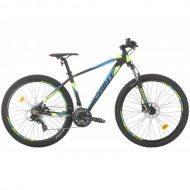 "Bicicleta SPRINT Maverick HDB 27.5"" negru/verde 44 cm"