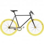 "Bicicleta SXT SingleSpeed / Fixie 28"" negru/galben"