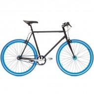 "Bicicleta SXT SingleSpeed / Fixie 28"" negru/albastru"