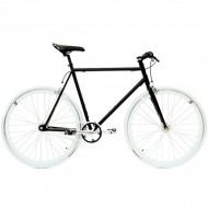 "Bicicleta SXT SingleSpeed / Fixie 28"" negru/alb"