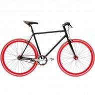 "Bicicleta SXT SingleSpeed / Fixie 28"" negru/rosu"
