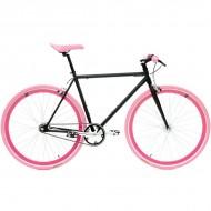 "Bicicleta SXT SingleSpeed / Fixie 28"" negru/roz"