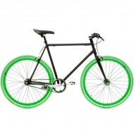 "Bicicleta SXT SingleSpeed / Fixie 28"" negru/verde"