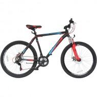 """Bicicleta MOON Phantom 26"""" negru/rosu/albastru 48 cm"""