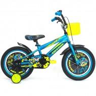 "Bicicleta ULTRA Kidy 16"" albastru/galben/negru"