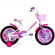 "Bicicleta ULTRA Kidy 16"" alb/roz/mov"