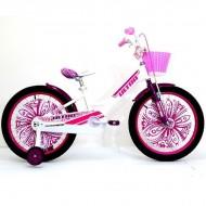 "Bicicleta ULTRA Larisa 20"" alb/roz/mov"