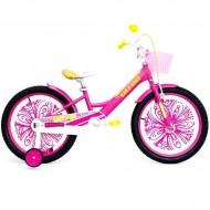 """Bicicleta ULTRA Larisa 20"""" roz/galben"""