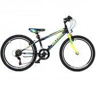 "Bicicleta ULTRA Storm 24"" negru/galben/albastru"