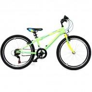 "Bicicleta ULTRA Storm 24"" verde/galben/albastru"