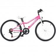 "Bicicleta ULTRA Gravita 24"" roz/alb"