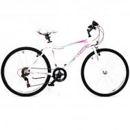 """Bicicleta ULTRA Gravita 26"""" alb/roz/verde 42 cm"""