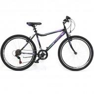 "Bicicleta ULTRA Gravita 26"" negru/mov/verde 42 cm"