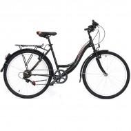 """Bicicleta ULTRA Tonus 26"""" negru/bej/portocaliu 42 cm"""