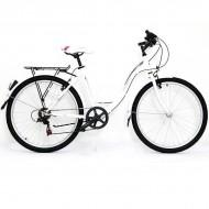 """Bicicleta ULTRA Tonus 26"""" alb/gri/roz 42 cm"""