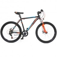 "Bicicleta ULTRA Agressor 26"" negru/portocaliu neon/albastru 44 cm"