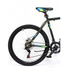 "Bicicleta ULTRA Agressor 26"" negru/verde neon/albastru 52 cm"