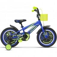 "Bicicleta ULTRA Kidy 16"" albastru/galben"