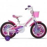 "Bicicleta ULTRA Larisa 16"" alb/roz/mov"