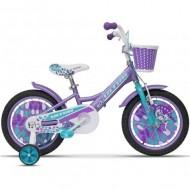 """Bicicleta ULTRA Larisa 16"""" mov/turquoise/alb"""