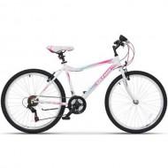 """Bicicleta ULTRA Gravita 26"""" alb/roz/verde 46 cm"""