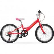 """Bicicleta ULTRA Larisa 20"""" rosu/roz"""
