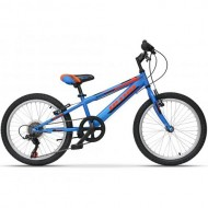 "Bicicleta ULTRA Storm 20"" albastru/portocaliu/negru"