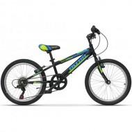"Bicicleta ULTRA Storm 20"" negru/verde/albastru"
