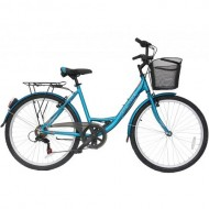 """Bicicleta ULTRA Riviera CTB 26"""" albastru 42 cm"""