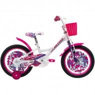 """Bicicleta ULTRA Larisa V-Brake 16"""" alb/roz"""