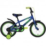 """Bicicleta ULTRA Kidy C-Brake 16"""" albastru/verde"""