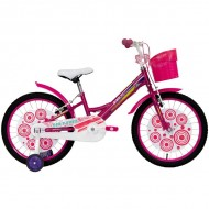 """Bicicleta ULTRA Larisa V-Brake 20"""" roz/alb"""