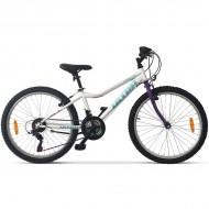 """Bicicleta ULTRA Gravita 24"""" alb/mov 32 cm"""