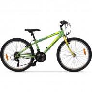 "Bicicleta ULTRA Storm 24"" verde/galben 32 cm"