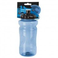 Bidon hidratare M-WAVE Transparent 650-700 ml albastru