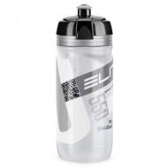 Bidon hidratare ELITE Corsa Transparent 550 ml Logo gri