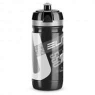 Bidon hidratare ELITE Corsa Negru 550 ml Logo gri