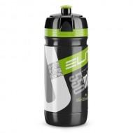 Bidon hidratare ELITE Corsa Negru 550 ml Logo verde