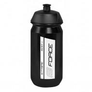 Bidon hidratare FORCE Stripe 500 ml negru/alb