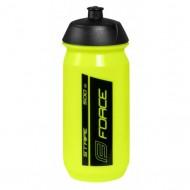 Bidon hidratare FORCE Stripe 500 ml fluorescent/negru