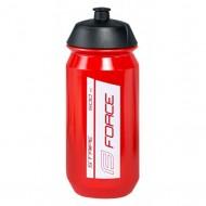 Bidon hidratare FORCE Stripe 500 ml roşu/alb